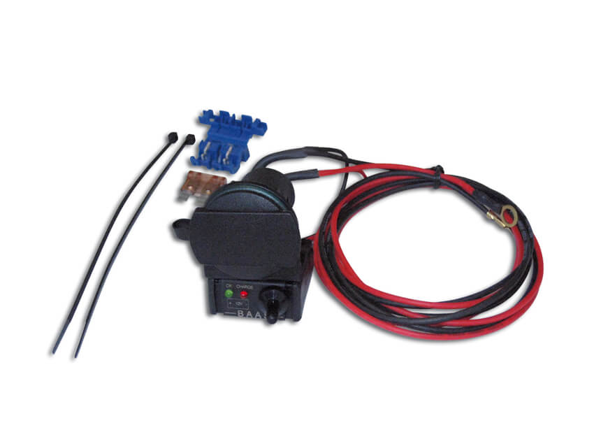 BAAS battery tester incl. socket