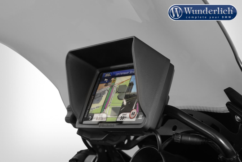 Wunderlich Device glare shield BMW Navigator VI – black