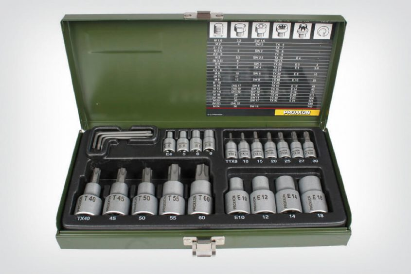 PROXXON Torx socket set 23 pieces