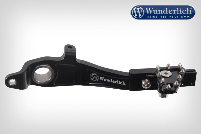 Adjustable foot brake lever