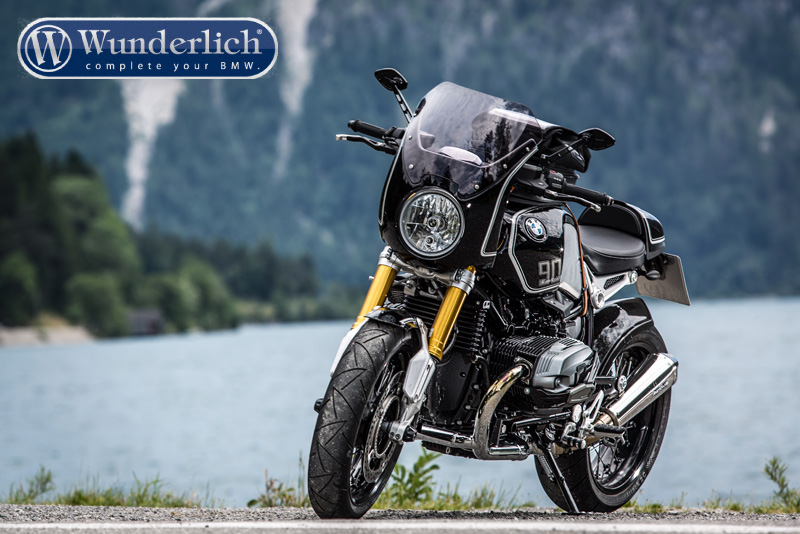 wunderlich daytona r ninet cockpit fairing black white. Black Bedroom Furniture Sets. Home Design Ideas