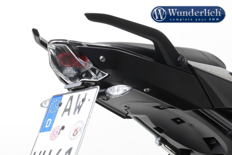 Signal bracket license plate holder for original blinker
