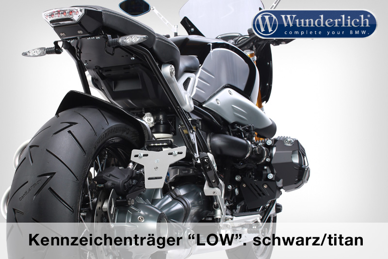 "Wunderlich license plate holder """"""""""""""""LOW"""""""""""""""" (with tail light conversion)"