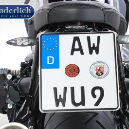"Wunderlich license plate holder """"""""""""""""SPORT"""""""""""""""" (with rear light STRIPE)"