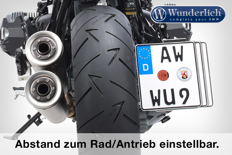 """Wunderlich license plate holder """"""""""""""""""""""""""""""""LOW"""""""""""""""""""""""""""""""" (with tail light conversion)"""