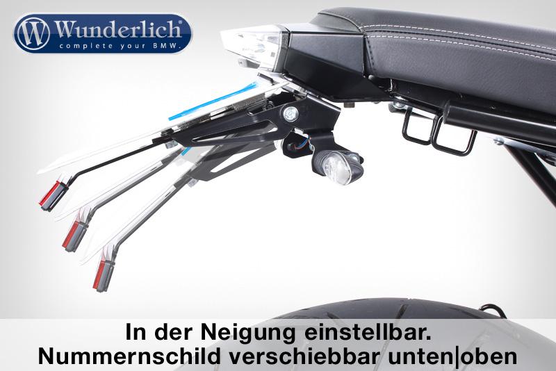 "Wunderlich license plate holder """"""""""""""""SPORT"""""""""""""""" (with rear light STRIPE)"