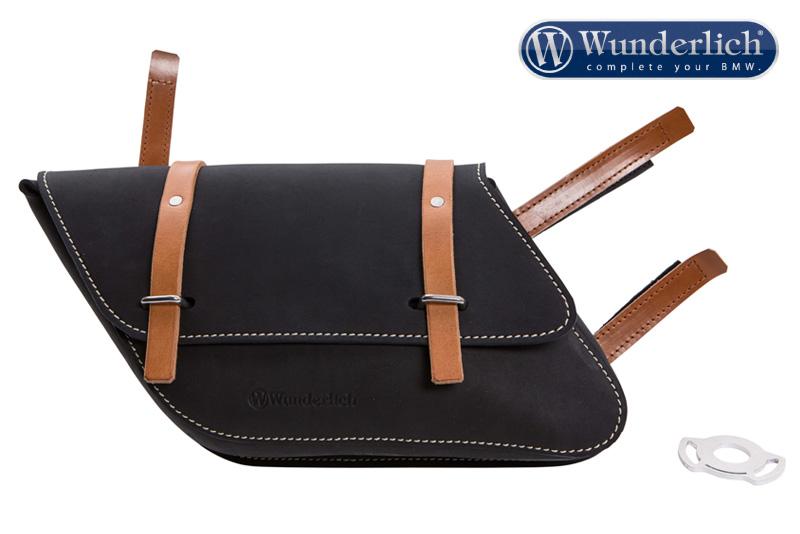 Leather side pocket