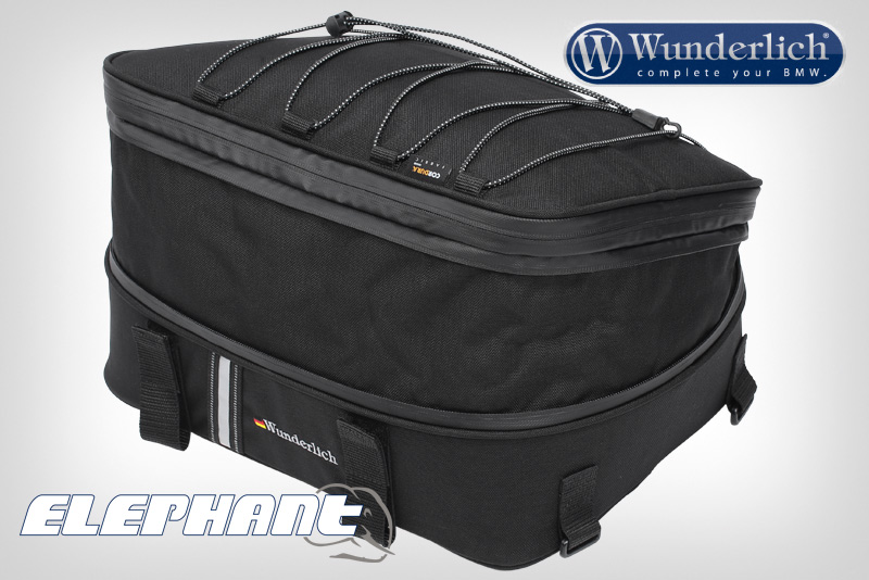 """Wunderlich Top Case Bag """"""""""""""""""""""""""""""""Elephant""""""""""""""""""""""""""""""""""""""""""""""""Elephant"""""""""""""""""""""""""""""""" Top Case Bag"""""""";Custom fit top case bag for all original BMW aluminum top cases (with or without rack) as well as Hepco"""