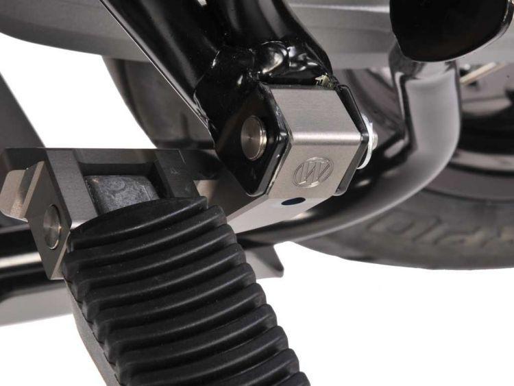 Passenger footrest lowering kit