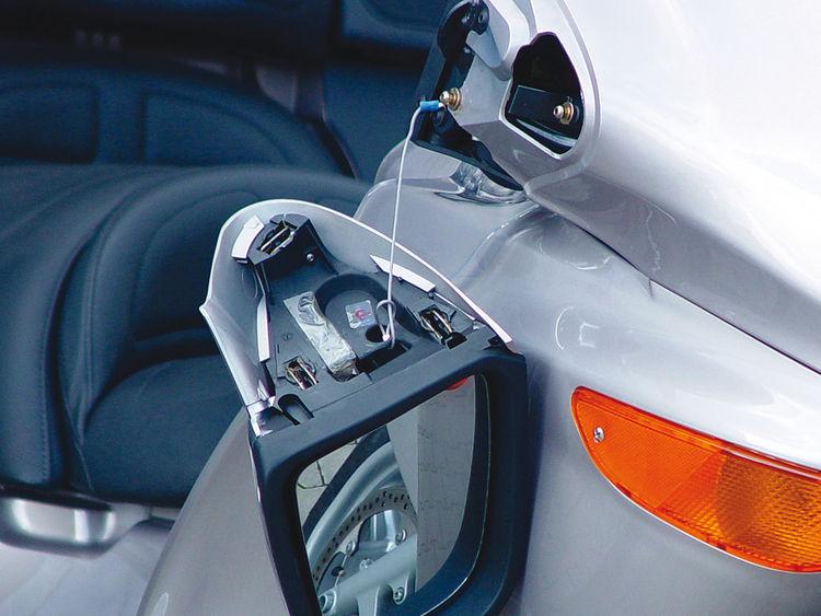 Mirror safety wire
