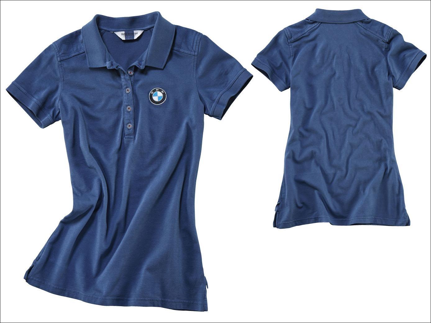 22c73218 Blue, slightly waisted polo shirt ...